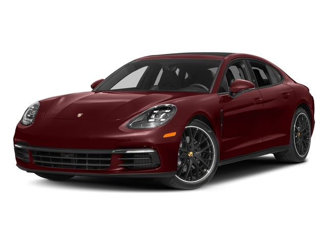 Burgundy Red Metallic 2018 Porsche Panamera Pictures Panamera 4S Executive AWD photos front view