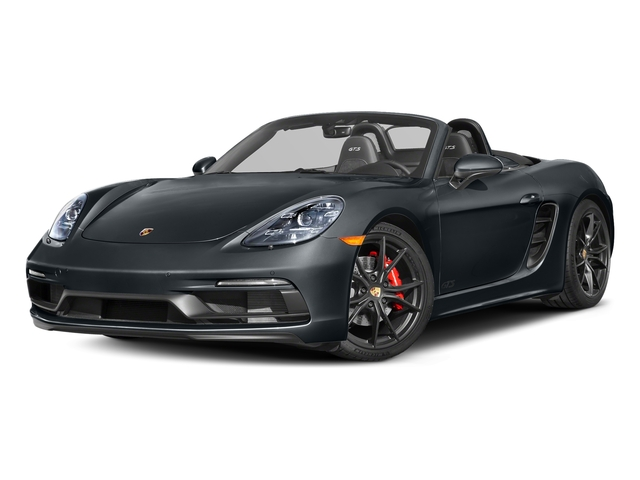 Graphite Blue Metallic 2018 Porsche 718 Boxster Pictures 718 Boxster GTS Roadster photos front view