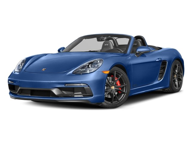 Sapphire Blue Metallic 2018 Porsche 718 Boxster Pictures 718 Boxster GTS Roadster photos front view