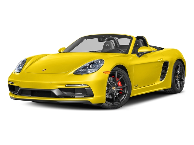 Racing Yellow 2018 Porsche 718 Boxster Pictures 718 Boxster GTS Roadster photos front view