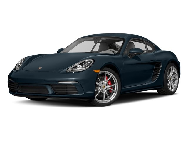 Night Blue Metallic 2018 Porsche 718 Cayman Pictures 718 Cayman S Coupe photos front view