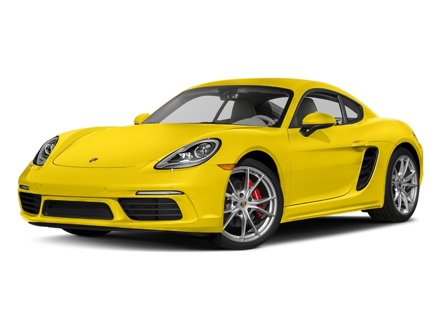 Racing Yellow 2018 Porsche 718 Cayman Pictures 718 Cayman S Coupe photos front view