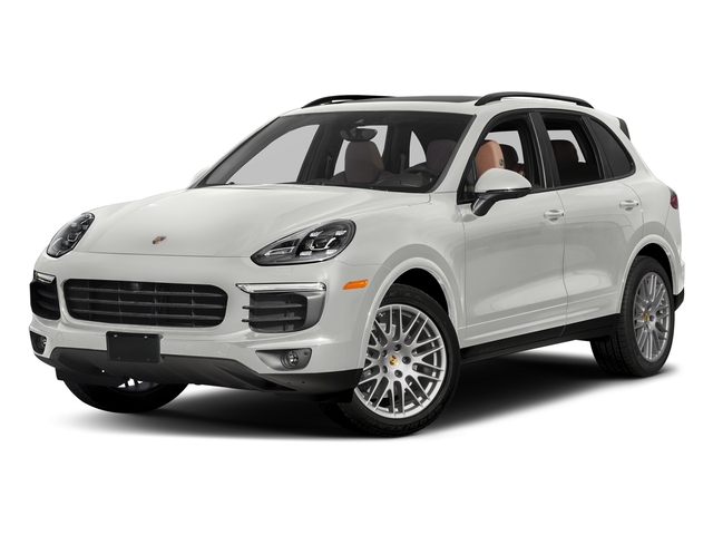 White 2018 Porsche Cayenne Pictures Cayenne Platinum Edition AWD photos front view
