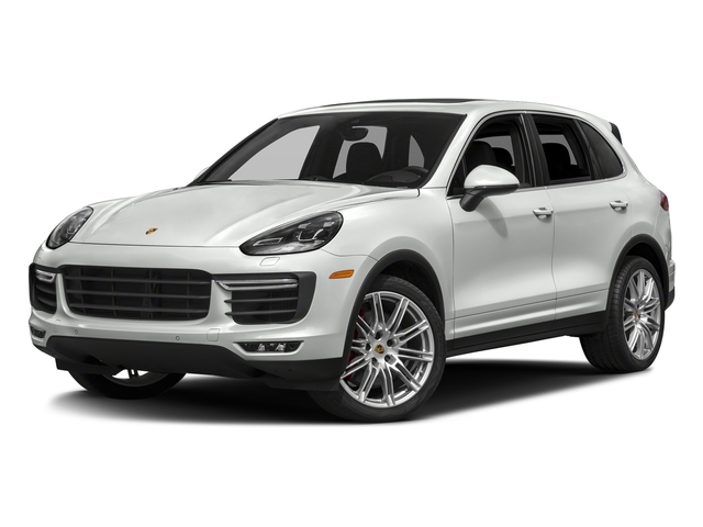 White 2018 Porsche Cayenne Pictures Cayenne Utility 4D S AWD V8 Turbo photos front view