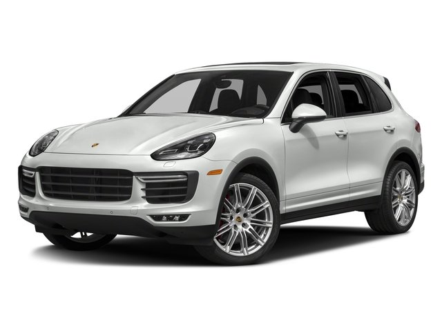 White 2018 Porsche Cayenne Pictures Cayenne Utility 4D AWD V8 Turbo photos front view