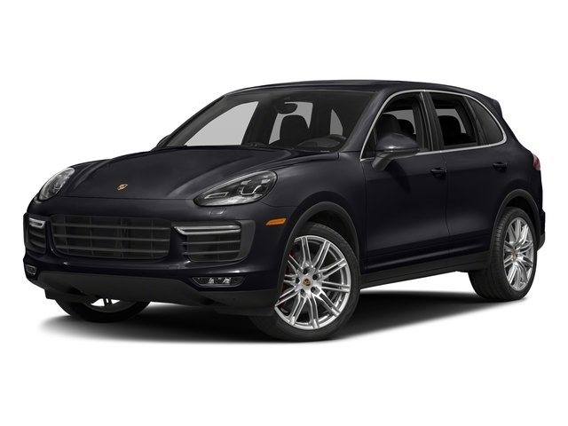 Jet Black Metallic 2018 Porsche Cayenne Pictures Cayenne Turbo S AWD photos front view