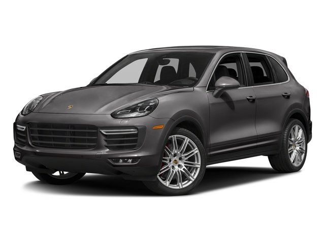 Meteor Grey Metallic 2018 Porsche Cayenne Pictures Cayenne Utility 4D AWD V8 Turbo photos front view
