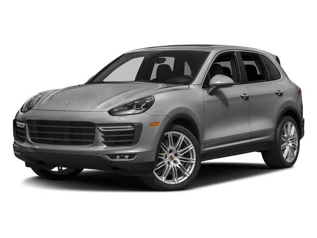 Rhodium Silver Metallic 2018 Porsche Cayenne Pictures Cayenne Turbo S AWD photos front view