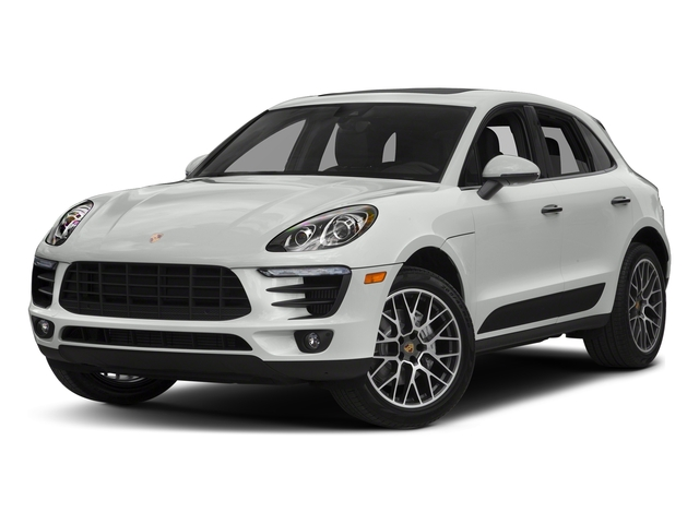 White 2018 Porsche Macan Pictures Macan Turbo AWD w/Performance Pkg photos front view
