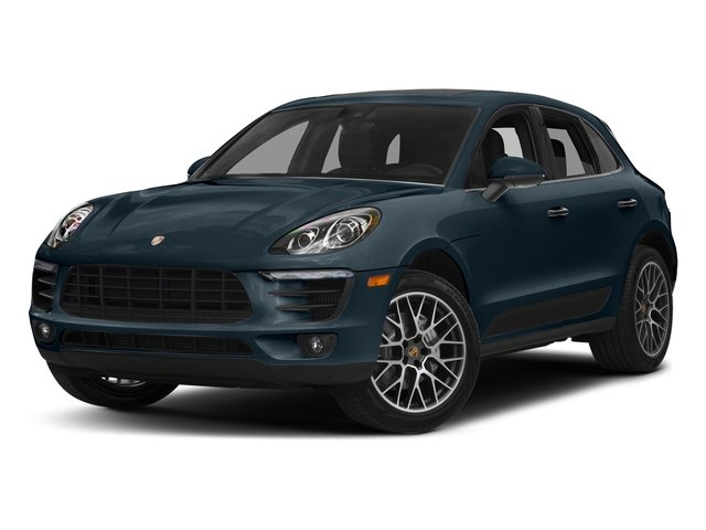 Night Blue Metallic 2018 Porsche Macan Pictures Macan Turbo AWD w/Performance Pkg photos front view