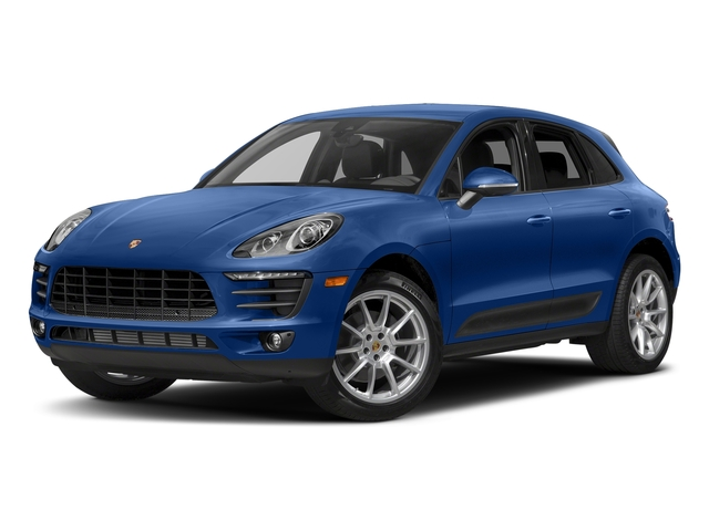 Sapphire Blue Metallic 2018 Porsche Macan Pictures Macan AWD photos front view