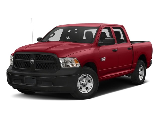 Flame Red Clearcoat 2018 Ram Truck 1500 Pictures 1500 Tradesman 4x4 Crew Cab 5'7 Box photos front view