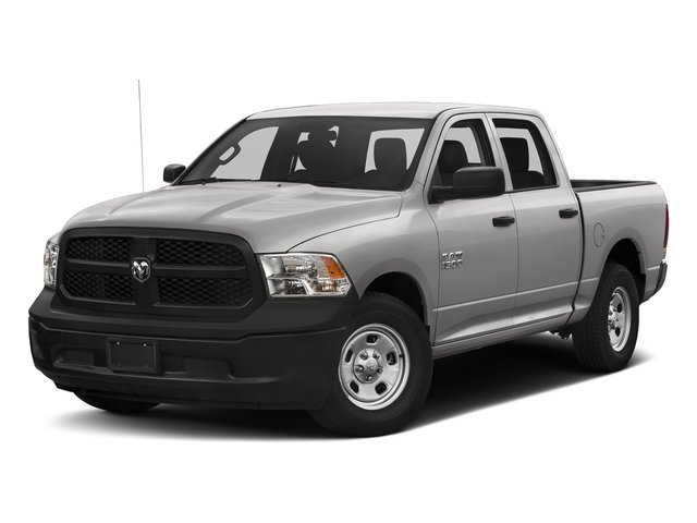 Bright Silver Metallic Clearcoat 2018 Ram Truck 1500 Pictures 1500 Tradesman 4x4 Crew Cab 5'7 Box photos front view
