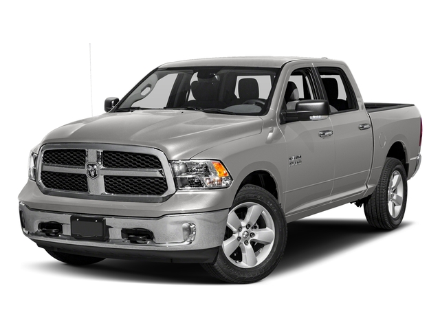 Bright Silver Metallic Clearcoat 2018 Ram Truck 1500 Pictures 1500 SLT 4x4 Crew Cab 5'7 Box photos front view