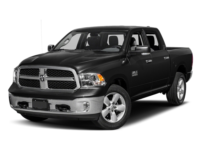 Brilliant Black Crystal Pearlcoat 2018 Ram Truck 1500 Pictures 1500 SLT 4x4 Crew Cab 5'7 Box photos front view