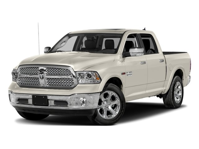 Pearl White 2018 Ram Truck 1500 Pictures 1500 Laramie 4x2 Crew Cab 5'7 Box photos front view