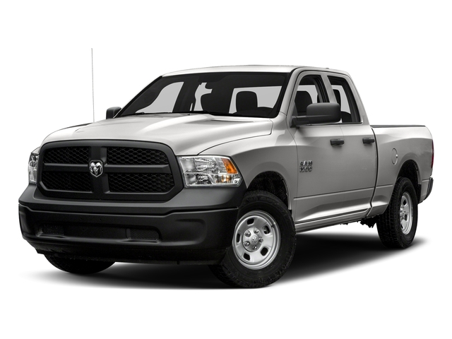 Bright Silver Metallic Clearcoat 2018 Ram Truck 1500 Pictures 1500 Express 4x4 Quad Cab 6'4 Box photos front view