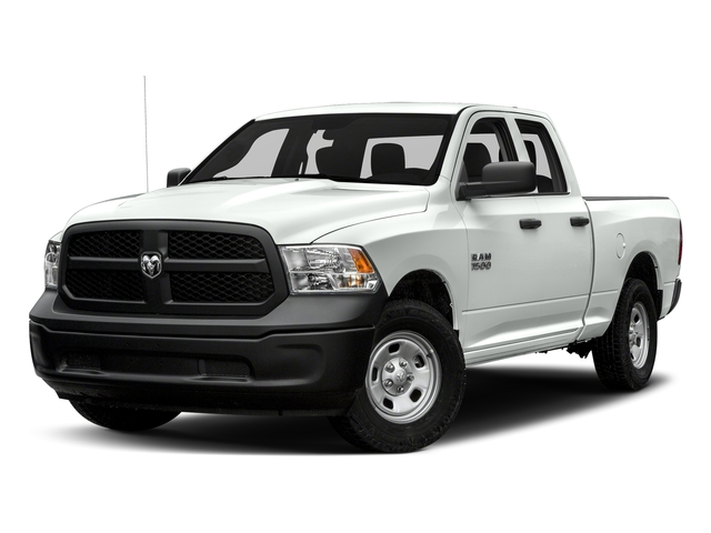 Bright White Clearcoat 2018 Ram Truck 1500 Pictures 1500 Express 4x4 Quad Cab 6'4 Box photos front view