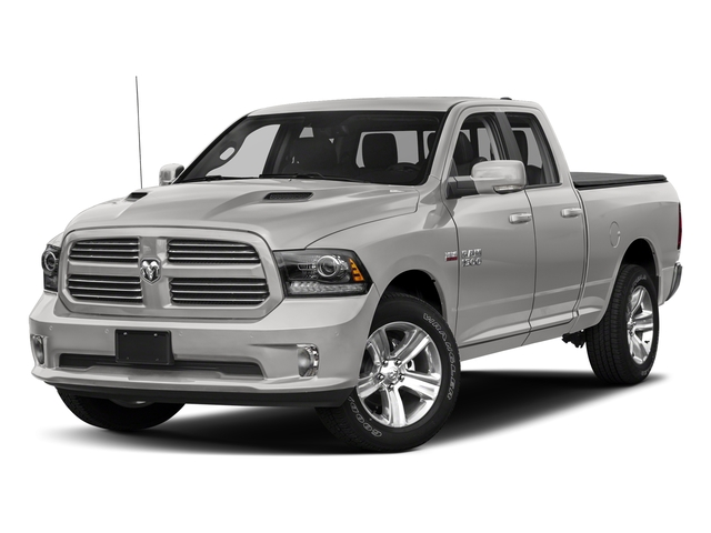 Bright Silver Metallic Clearcoat 2018 Ram Truck 1500 Pictures 1500 Sport 4x4 Quad Cab 6'4 Box *Ltd Avail* photos front view