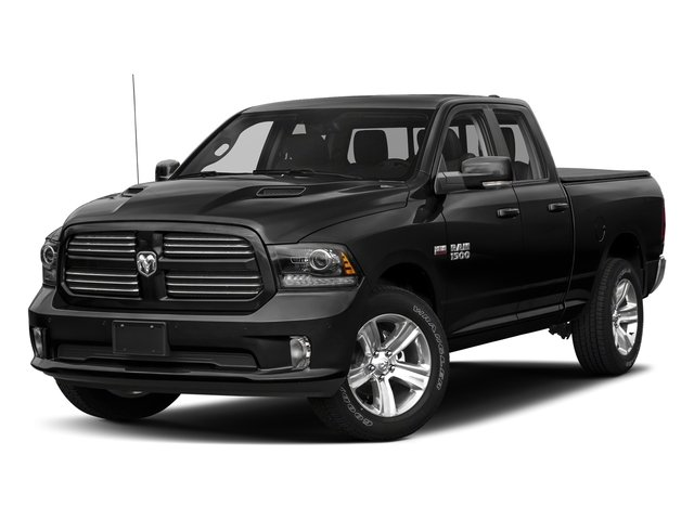 Brilliant Black Crystal Pearlcoat 2018 Ram Truck 1500 Pictures 1500 Sport 4x4 Quad Cab 6'4 Box *Ltd Avail* photos front view