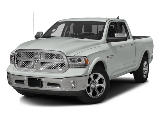 Bright White Clearcoat 2018 Ram Truck 1500 Pictures 1500 Laramie 4x4 Quad Cab 6'4 Box photos front view
