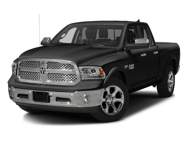 Brilliant Black Crystal Pearlcoat 2018 Ram Truck 1500 Pictures 1500 Laramie 4x4 Quad Cab 6'4 Box photos front view