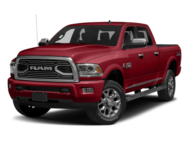 Flame Red Clearcoat 2018 Ram Truck 2500 Pictures 2500 Laramie Longhorn 4x2 Crew Cab 8' Box photos front view