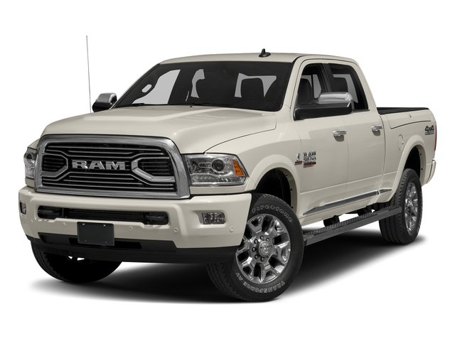 Pearl White 2018 Ram Truck 2500 Pictures 2500 Laramie Longhorn 4x2 Crew Cab 8' Box photos front view