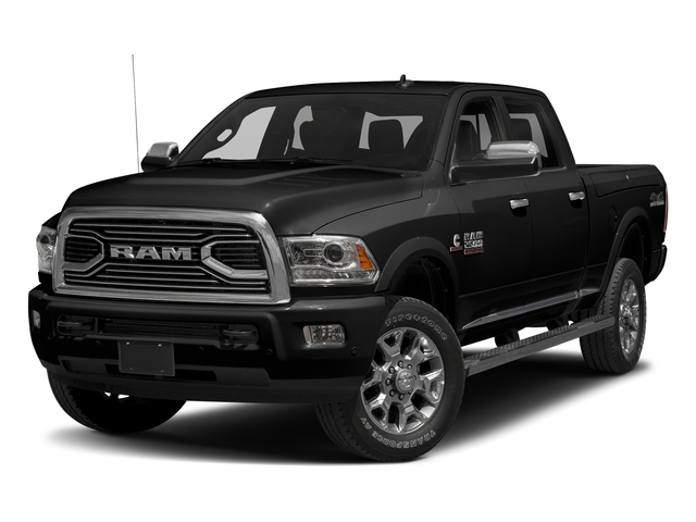 Brilliant Black Crystal Pearlcoat 2018 Ram Truck 2500 Pictures 2500 Laramie Longhorn 4x2 Crew Cab 8' Box photos front view