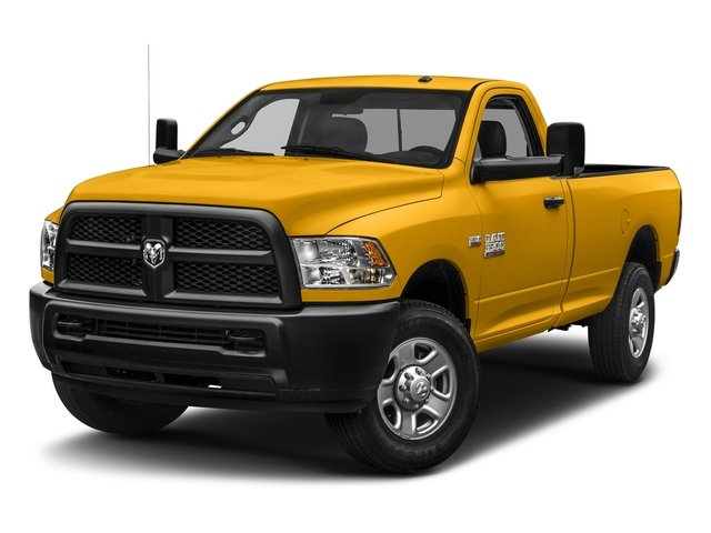 Construction Yellow 2018 Ram Truck 3500 Pictures 3500 Tradesman 4x2 Reg Cab 8' Box photos front view
