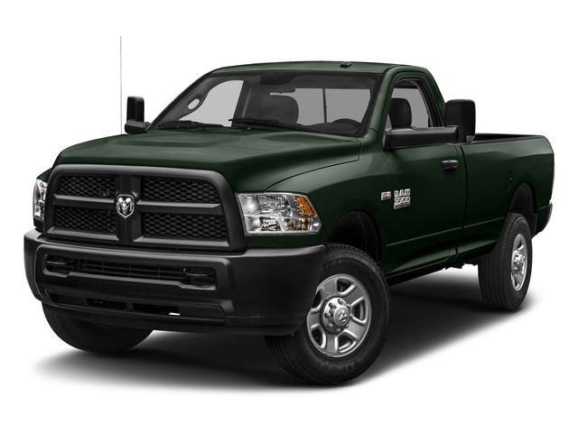 Black Forest Green Pearlcoat 2018 Ram Truck 3500 Pictures 3500 Tradesman 4x2 Reg Cab 8' Box photos front view