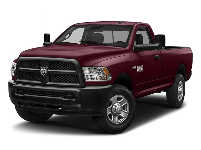Delmonico Red Pearlcoat 2018 Ram Truck 3500 Pictures 3500 Tradesman 4x2 Reg Cab 8' Box photos front view