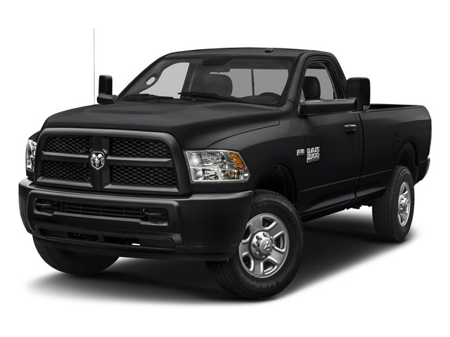 Black Clearcoat 2018 Ram Truck 3500 Pictures 3500 Tradesman 4x2 Reg Cab 8' Box photos front view
