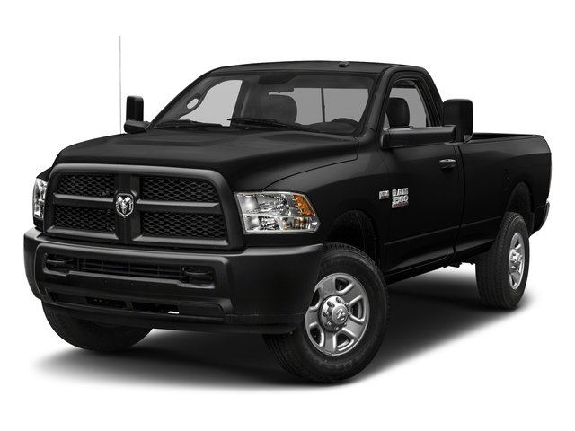 Brilliant Black Crystal Pearlcoat 2018 Ram Truck 3500 Pictures 3500 Regular Cab SLT 2WD photos front view