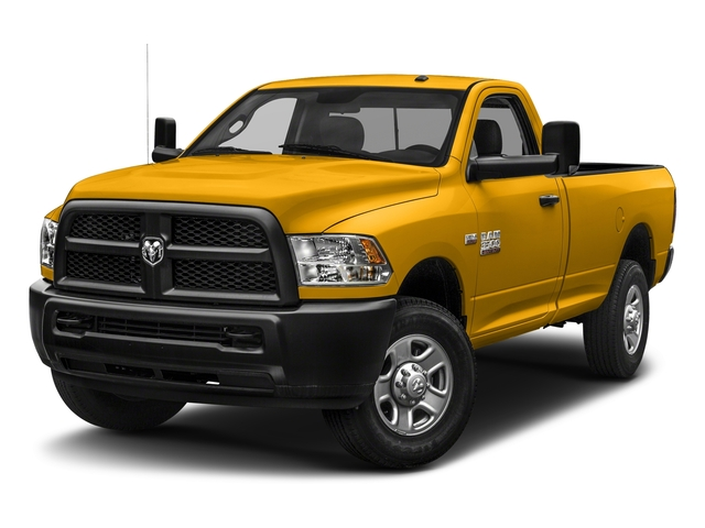 Detonator Yellow Clearcoat 2018 Ram Truck 3500 Pictures 3500 Tradesman 4x2 Reg Cab 8' Box photos front view