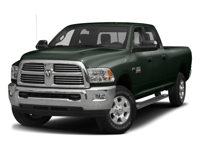 Black Forest Green Pearlcoat 2018 Ram Truck 3500 Pictures 3500 Big Horn 4x4 Crew Cab 8' Box photos front view