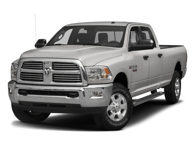 Bright Silver Metallic Clearcoat 2018 Ram Truck 3500 Pictures 3500 Big Horn 4x4 Crew Cab 8' Box photos front view