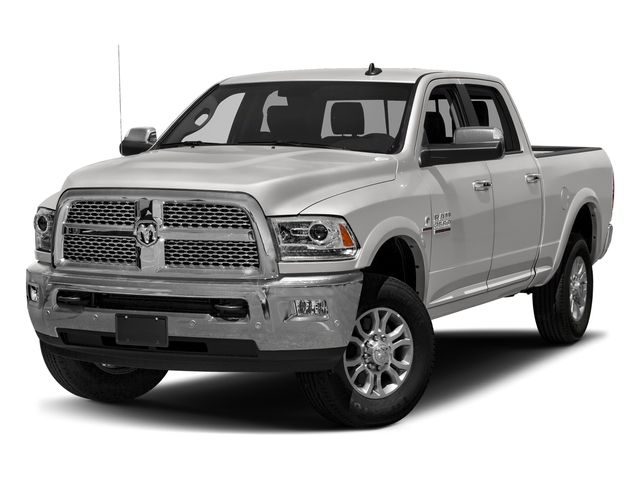 Bright Silver Metallic Clearcoat 2018 Ram Truck 3500 Pictures 3500 Laramie Longhorn 4x4 Crew Cab 6'4 Box photos front view