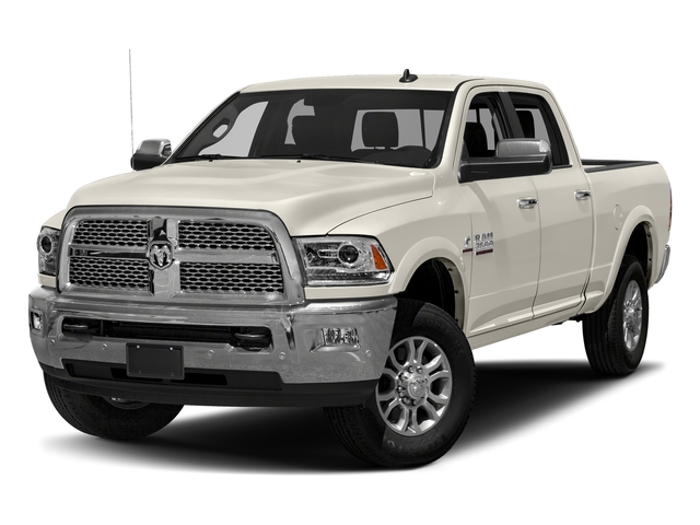 Pearl White 2018 Ram Truck 3500 Pictures 3500 Laramie Longhorn 4x4 Crew Cab 6'4 Box photos front view