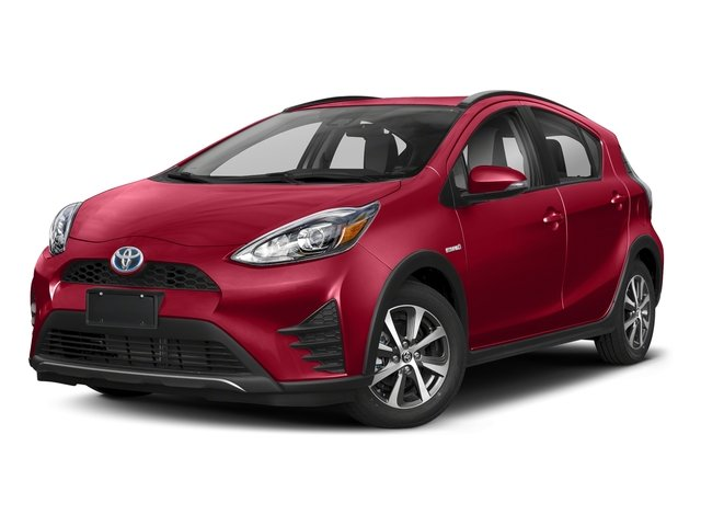 Absolutely Red 2018 Toyota Prius c Pictures Prius c Liftback 5D c One I4 Hybrid photos front view