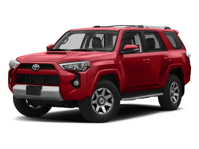 Barcelona Red Metallic 2018 Toyota 4Runner Pictures 4Runner TRD Off Road 4WD photos front view
