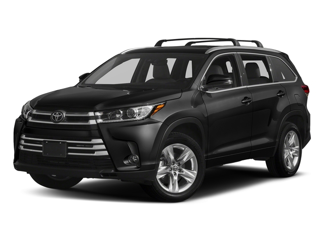 Midnight Black Metallic 2018 Toyota Highlander Pictures Highlander Utility 4D Limited 4WD V6 photos front view