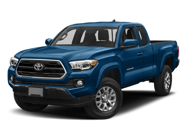 Blazing Blue Pearl 2018 Toyota Tacoma Pictures Tacoma SR5 Extended Cab 4WD I4 photos front view