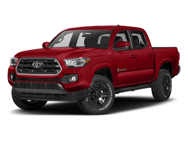 Barcelona Red Metallic 2018 Toyota Tacoma Pictures Tacoma SR5 Crew Cab 4WD V6 photos front view