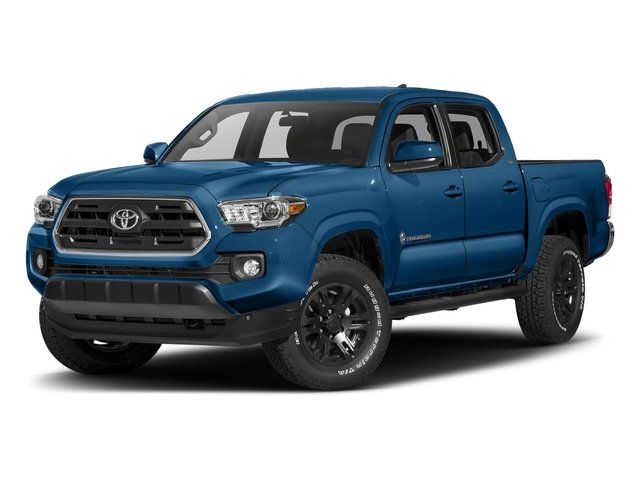 Blazing Blue Pearl 2018 Toyota Tacoma Pictures Tacoma SR5 Crew Cab 4WD V6 photos front view