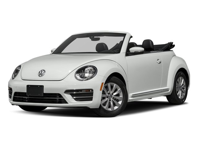 Pure White/Black Roof 2018 Volkswagen Beetle Convertible Pictures Beetle Convertible S Auto photos front view
