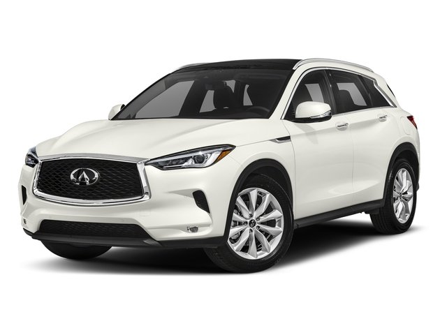 Lunar White 2019 INFINITI QX50 Pictures QX50 LUXE FWD photos front view