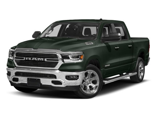 Black Forest Green Pearlcoat 2019 Ram Truck 1500 Pictures 1500 Laramie 4x2 Crew Cab 6'4 Box photos front view