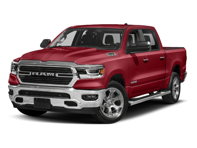 Flame Red Clearcoat 2019 Ram Truck 1500 Pictures 1500 Laramie 4x2 Crew Cab 6'4 Box photos front view