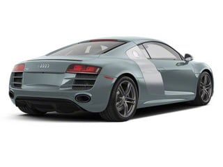 Jet Blue Metallic With Ice Silver Sideblades 2010 Audi R8 Pictures R8 2 Door Coupe Quattro 5.2l (manual) photos rear view